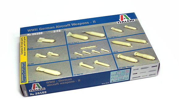 ITALERI Military Model 1/72 DetailSet WII German Aircraft WeaponsII 26102 T6102