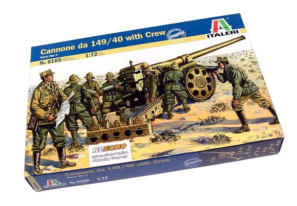 ITALERI Military Model 1/72 World War II Cannone da 149/40 with Crew 6165 T6165