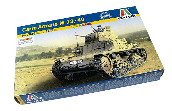 ITALERI Military Model 1/72 Carro Armato M 13/40 Scale Hobby 7036 T7036