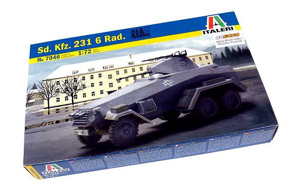 ITALERI Military Model 1/72 Sd. Kfz. 231 6 Rad. Scale Hobby 7046 T7046