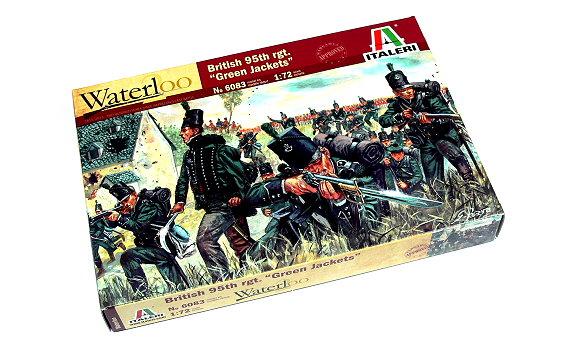 ITALERI Waterloo 1/72 Napoleonic Wars British 95th rgt Green Jackets 6083 TA013
