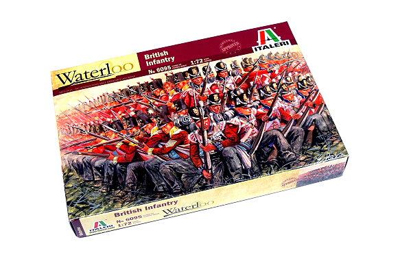 ITALERI Waterloo 1/72 Napoleonic Wars British Infantry 1815 Hobby 6095 TA015