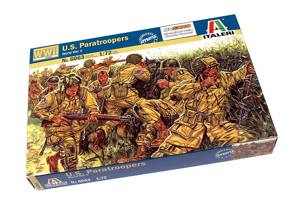 ITALERI Military Model 1/72 World War II US Paratroopers Scale Hobby 6063 T6063