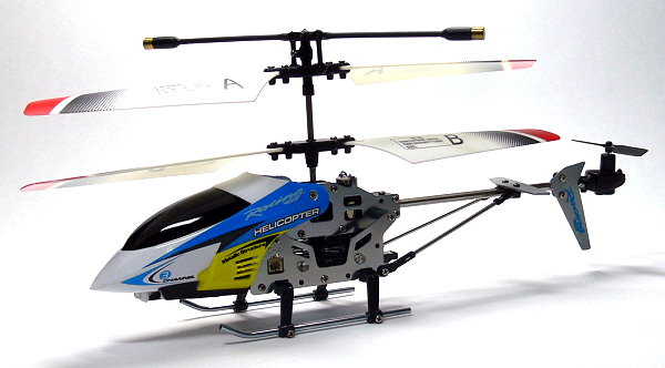 JXD RC Model 3ch Blue Gyro LED R/C Hobby Mini Electric Helicopter RTF EH480