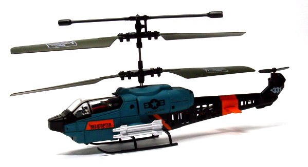 JXD RC Model 3ch Military Mini LED Helicopter RTF EH475