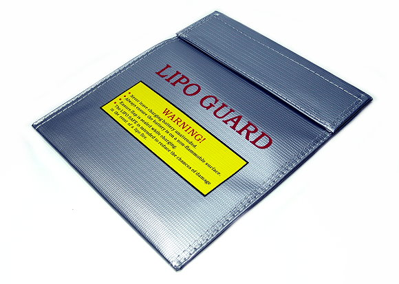 GT POWER Fireproof LiPo Li-Po Safety 220x180mm Silver RC Battery Safe Bag SB065