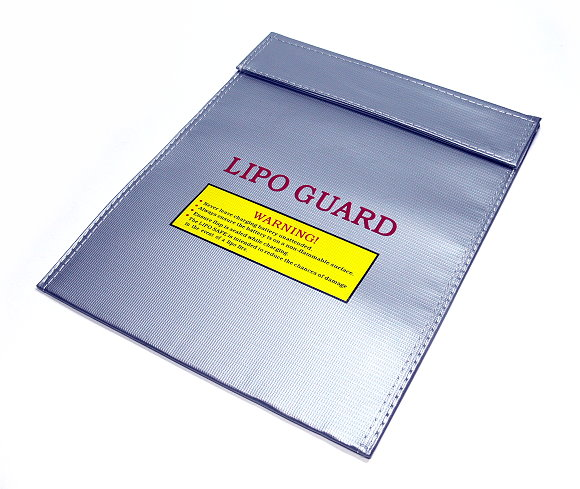 GT POWER Fireproof LiPo Li-Po Safety 300x220mm Silver RC Battery Safe Bag SB060