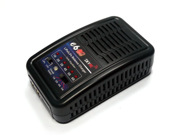 SKYRC Model e6 AC Input 50W 5AMP LiPo/LiFe 2-6s Balance Charger (EU Plug) BC006