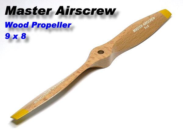 Master Airscrew RC Model Wood Series 9 x 8 R/C Airplane Propeller PM721