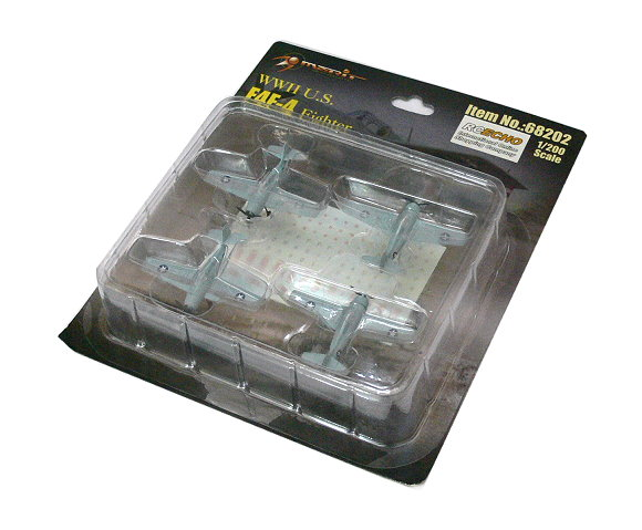 Merit Aircraft Model Airplane 1/200 WWII U.S. F4F-4 Fighter 68202 L8202