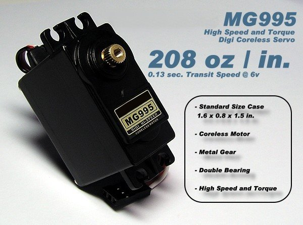 RC Model MG995 Metal Gear High Speed & Torque R/C Hobby Servo SS121