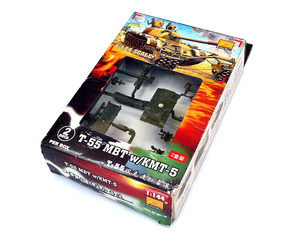 Mini Hobby Models Military Model 1/144 T-55 MBT with KMT-5 Hobby 82119 A2119