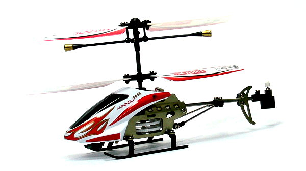 RC Model 3ch Red Gyro LED R/C Hobby Mini Electric Helicopter RTF EH500