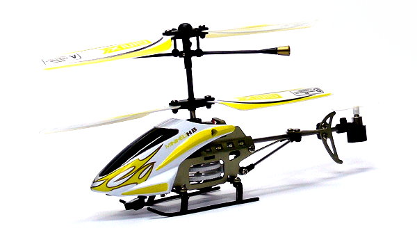 RC Model 3ch Yellow Gyro LED R/C Hobby Mini Electric Helicopter RTF EH490