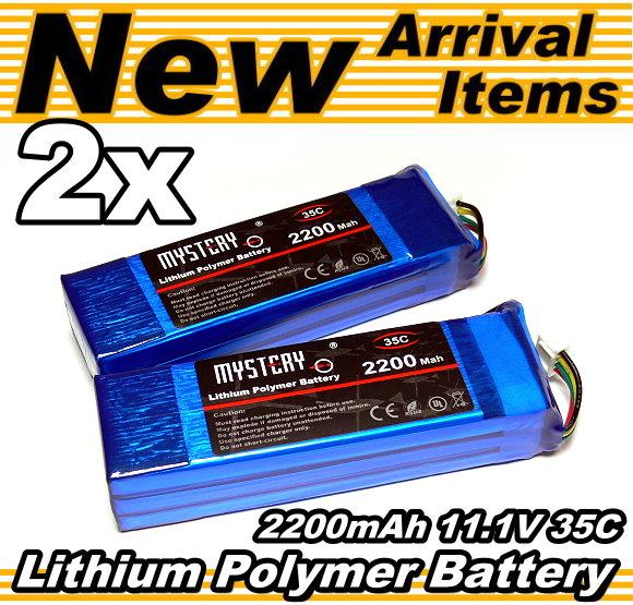 2x RC Model LiPo 2200mAh 11.1V 35C Li-Polymer Lithium Polymer Battery CA151
