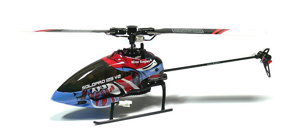 Nine Eagles 303G 6ch 2.4G Blue Solopro 125 V2 Radio Control Helicopter EH007