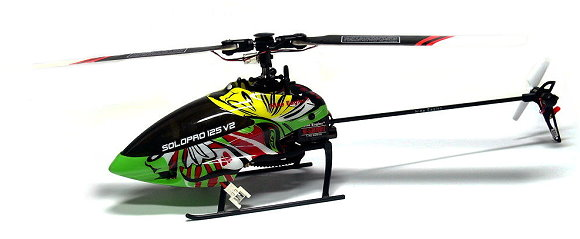 Nine Eagles 303G 6ch 2.4G Green Solopro 125 V2 Radio Control Helicopter EH008