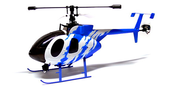 Nine Eagles RC Model Bravo SX 4ch 2.4G Blue R/C Hobby Electric Helicopter EH397