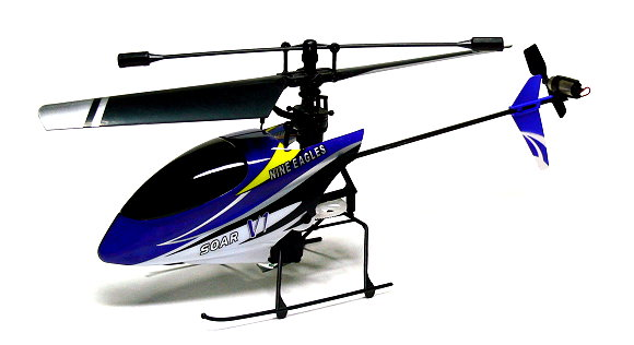 Nine Eagles RC Model Solo Pro 4ch 2.4G Blue R/C Hobby Electric Helicopter EH412