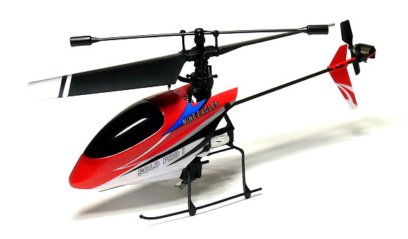 Nine Eagles RC Model Solo Pro 4ch 2.4G Red R/C Hobby Electric Helicopter EH410