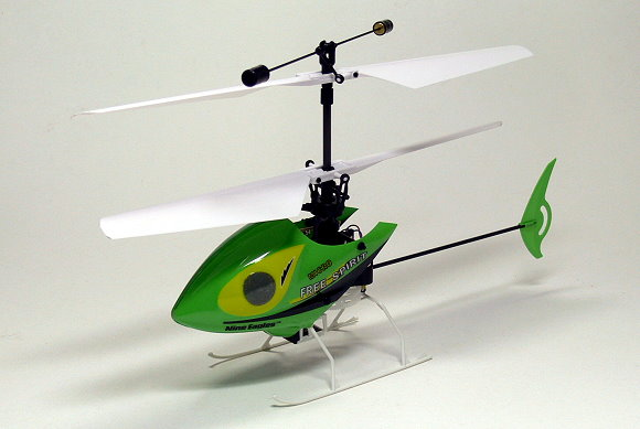 Nine Eagles RC Model Solo 4ch 2.4G Green R/C Hobby Electric Helicopter EH404