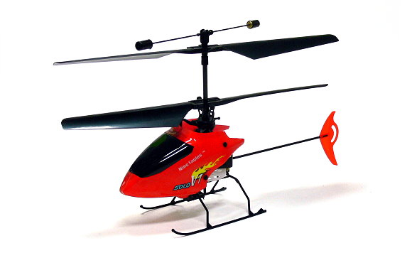 Nine Eagles RC Model Solo 4ch 2.4G Red R/C Hobby Electric Helicopter EH402