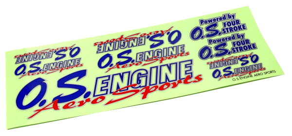 O.S. ENGINE OS RC Model Engine Aero Sports Decal DE885