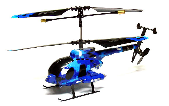 RC Model Phantom 3ch Infrared Control Blue Gyro Mini Helicopter EH396