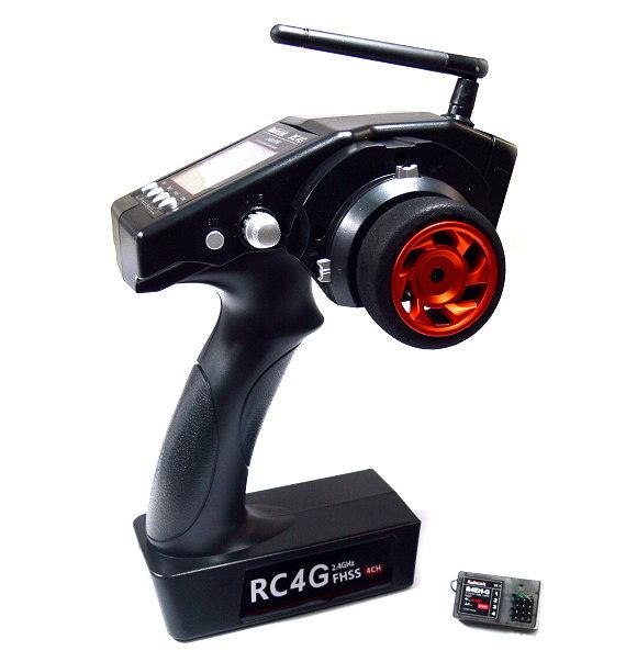 RadioLink RC RC4G 2.4GHz FHSS 4ch R/C Hobby Transmitter & R4EH-G Receiver TS498
