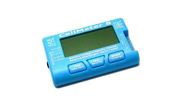RC CellMeter 8 Battery Voltage Capacity Checker LiPo LiFe Li-ion NiMH Nicd BK202