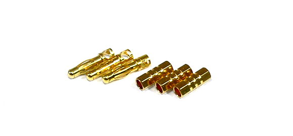 RC Model Outlet AM-1003D 4mm R/C Golden Hobby Metal Connector OT536