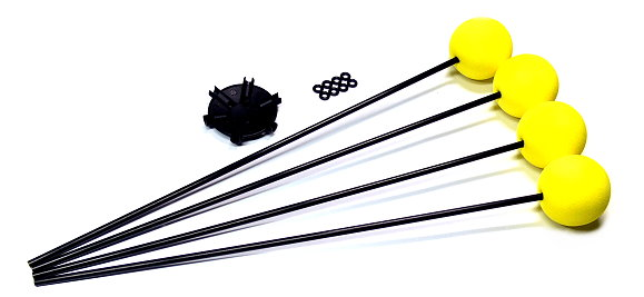 RC Model 590x360mm R/C Hobby Helicopter Yellow Foam Training Kit AC681