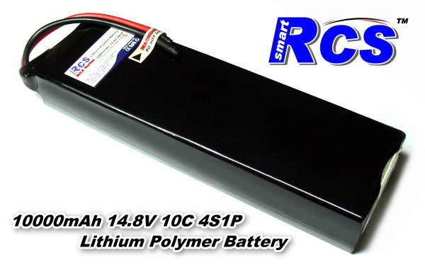 RCS Model 10000mah 14.8v 10C LiPo Li-Polymer Lithium Polymer Battery RB517