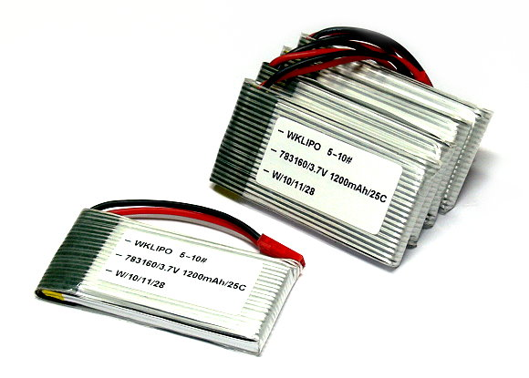5x RCS Model 1200mah 3.7v 25C LiPo Li-Polymer Lithium Polymer Battery CA148