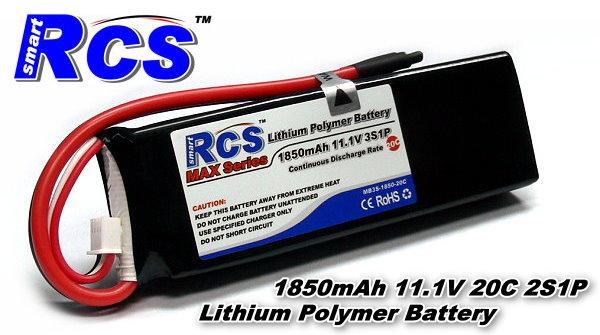 RCS Model 1850mAh 11.1V 20C LiPo Li-Polymer Lithium Polymer Battery RB696