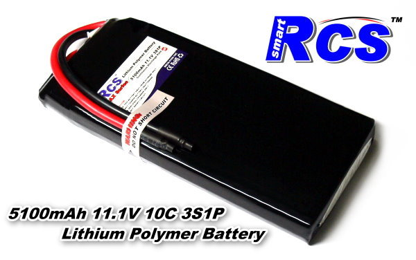 RCS Model 5100mah 11.1v 10C LiPo Li-Polymer Lithium Polymer Battery RB529