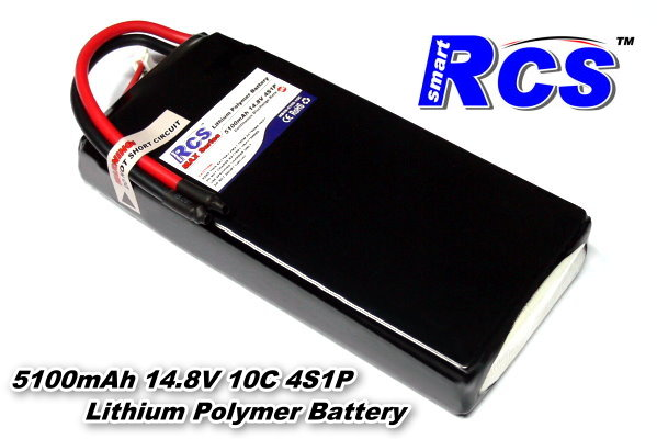 RCS Model 5100mah 14.8v 10C LiPo Li-Polymer Lithium Polymer Battery RB526