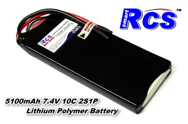 RCS Model 5100mah 7.4v 10C LiPo Li-Polymer Lithium Polymer Battery RB532
