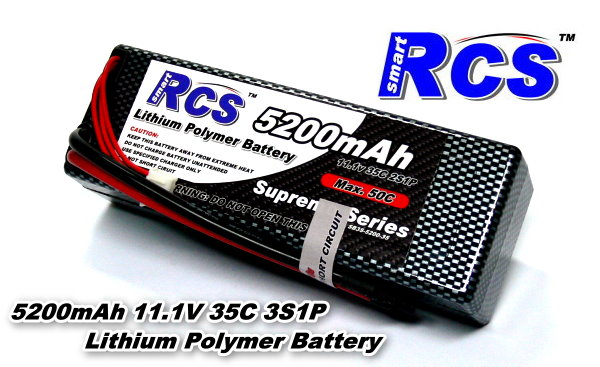 RCS Model 5200mAh 11.1v 35C LiPo Li-Polymer Lithium Polymer Battery RB795