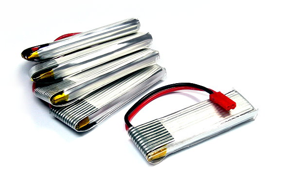 5x RCS Model 600mah 3.7v 15C LiPo Li-Polymer Lithium Polymer Battery CA161
