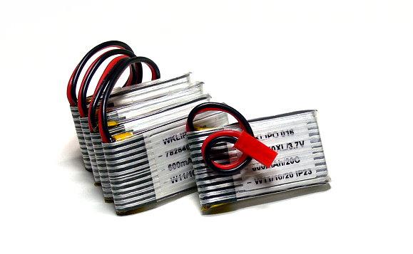 5x RCS Model 600mah 3.7v 20C LiPo Li-Polymer Lithium Polymer Battery CA202