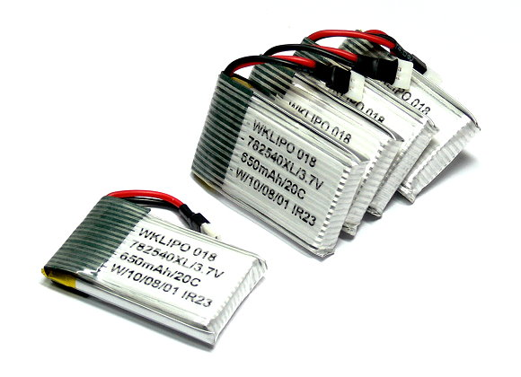 5x RCS Model 650mah 3.7v 20C LiPo Li-Polymer Lithium Polymer Battery CA149