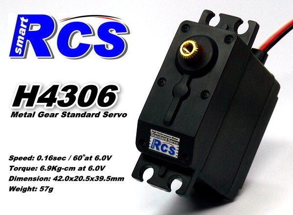 RCS Model H4306 RC Metal Gear High Torque R/C Hobby Standard Servo SS826
