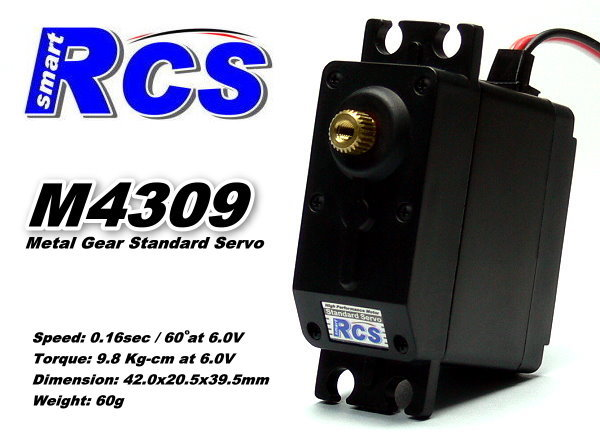 RCS Model M4309 RC Metal Gear High Torque R/C Hobby Standard Servo SS824
