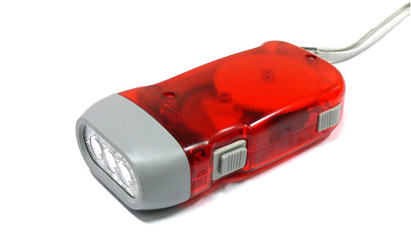 Outdoor Red Hand Pressing Flashlight FL582