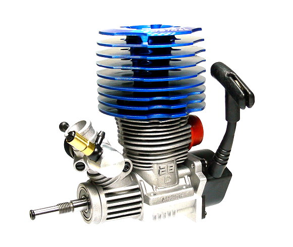 SH ENGINES Model Blue 28 Nitro Engine 4.57cc RC Car Buggy Truck Truggy EG639