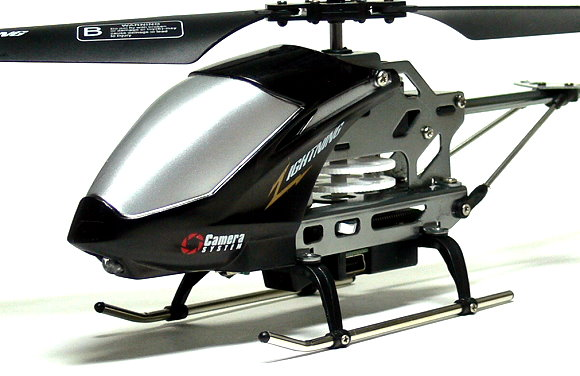 SH Model SPY Camera 3.5ch Gyro Black R/C Hobby Mini Electric Helicopter EH414