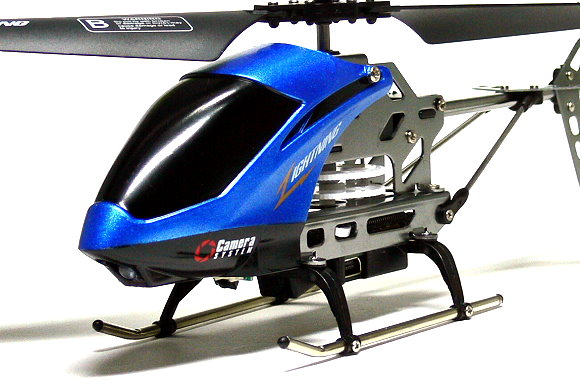 SH Model SPY Camera 3.5ch Gyro Blue R/C Hobby Mini Electric Helicopter EH418