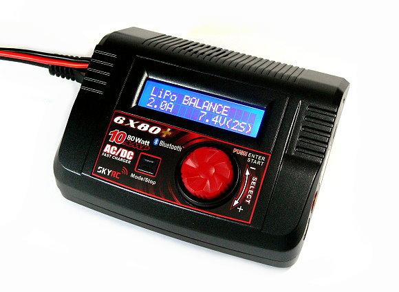 SKYRC 6X80 Bluetooth 80W AC/DC RC Professional Balance Charger (EU Plug) BC484
