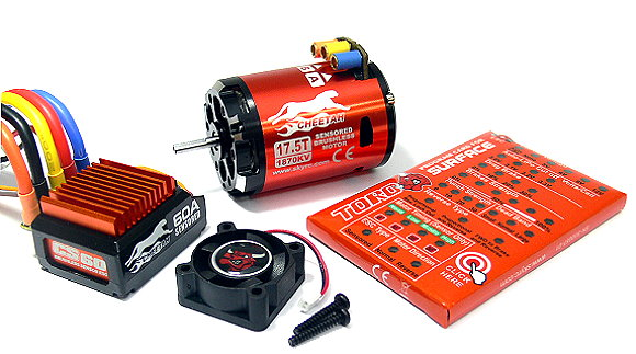 SKYRC CHEETAH 1870KV 17.5T Sensored Brushless Motor & CS60 60A ESC Combo ME635